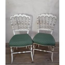 Paire de chaises Napoléon...