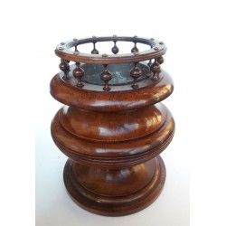 Planter solid walnut late 19th