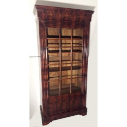 Mahogany bookcase display...