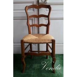 Chaise paillée style Louis XV