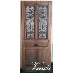 Old oak entrance door with...