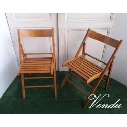 Paire de chaises pliables...