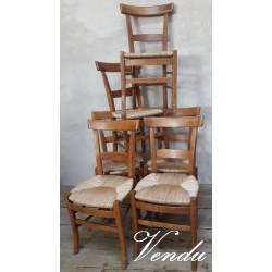 Série de 6 chaises de style...