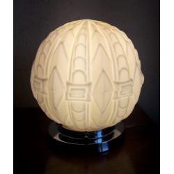 Lampe Art Déco globe en...