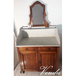 Marble top coiffeuse,...