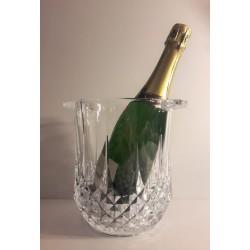 Seau à champagne en cristal...