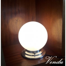Lamp, Art Deco globe...