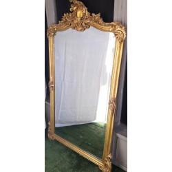 Remarquable Miroir bois et stuc dorés Rocaille 146x84 cm ZK-48